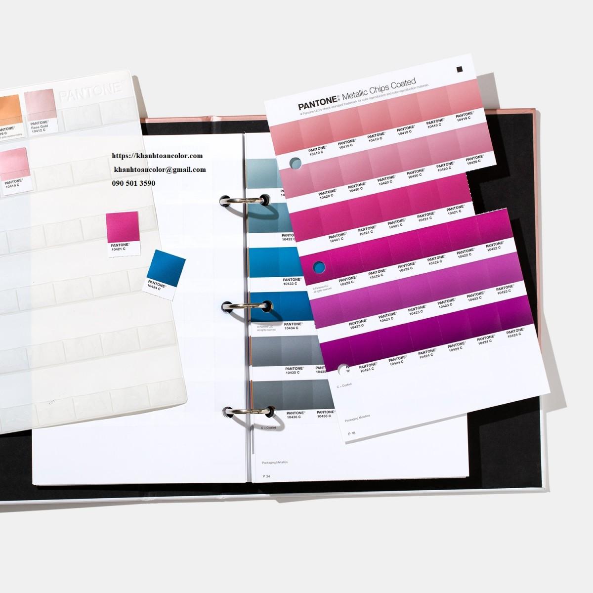 đặc điểm màu sắc của pantone c metallics chip book gb1507a năm 2020